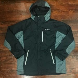 Columbia Interchange Waterproof Black Ski Coat L